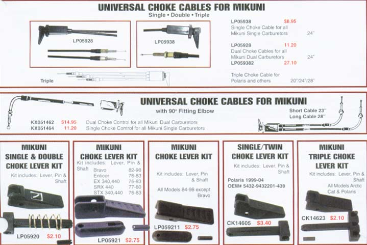 Universal Snowmobile Cables