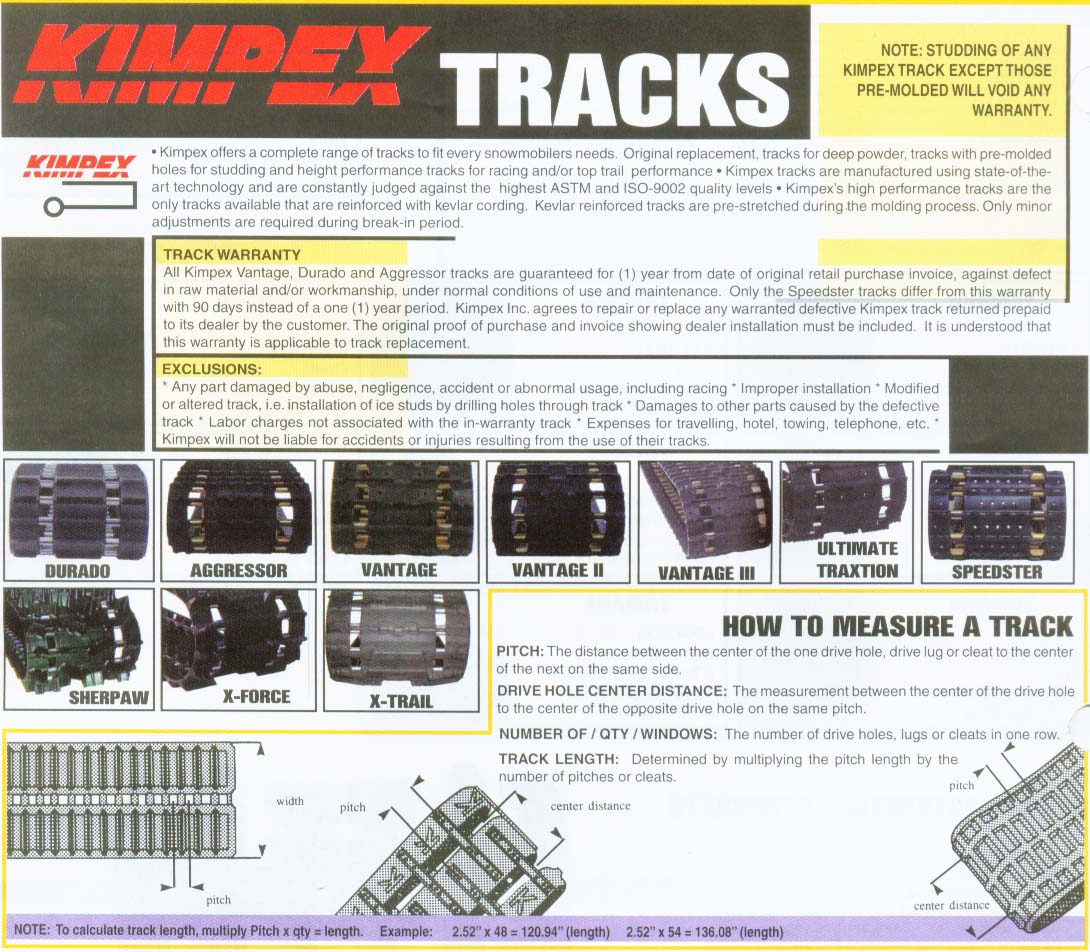 kimpex track ski doo tracks page 1 1990 ski-doo safari wiring diagram at bakdesigns.co