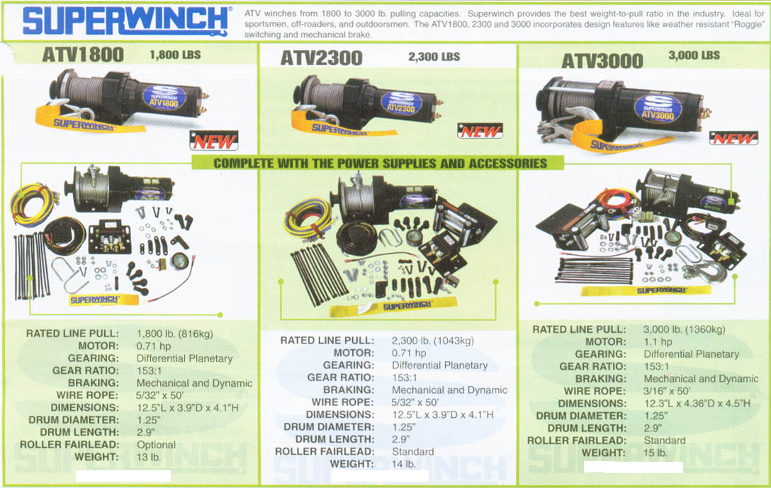 Arctic Cat Atv Superwinch U0026 39 S